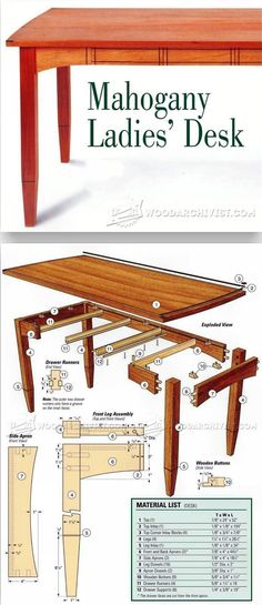Three-Drawered Desk Plans - Furniture Plans and Projects | WoodArchivist.com