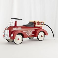 Shop Ride On Firetruck. Our ride on firetruck speedster features a steel body and chrome accents.