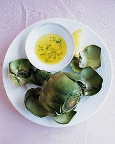 Steamed Artichokes with Tarragon Butter <3