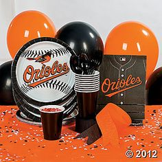 orioles party paper products