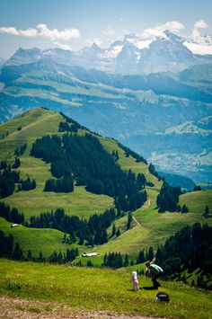 The Alps from Rigi Kulm, Schweiz by Jenn Oliver  What a view for playing with your sweet blessings from God.