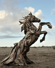 Wonderful Sculptures Made From Driftwood by artist Jeff Uitto