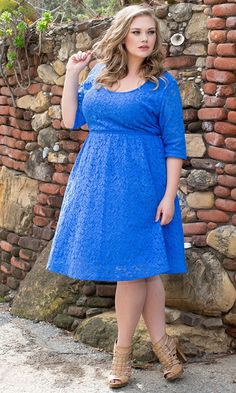 Plus Size Harlow Lace Dress in Surf Blue at Curvalicious Clothes  #bbw #curvy #fullfigured #plussize #thick #beautiful #fashionista #style #fashion #shop #online www.curvaliciousclothes.com TAKE 15% OFF Use code: TAKE15 at checkout