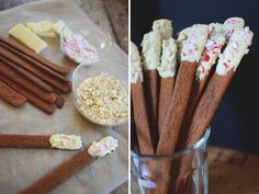 gingerbread sticks dipped in chocolate Xmas, Christmas, Yule, Gingerbread, Recipies, Cheese, Chocolate, Cooking, Breakfast