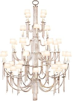 Fine Art Lamps Customization Program Customized Finished Chandelier Made Dramatically Larger 3 Additional Tiers Of Lights