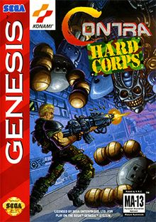 I don't really like this game so much as I want to say it was impossible to beat. contra hard corps #gaming