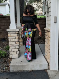 African Dresses For Women, African Fashion Dresses, African Attire, African Women, Fashion Outfits, Ankara Skirt And Blouse, Ankara Dress, Long Skirt And Top, African Print Fashion