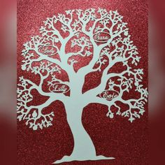 Personalised papercut by hand family tree. www.facebook.com/daisyjaynehandmade Or sararothery@hotmail.co.uk  For details