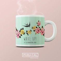 WAKE UP Instagramers //  // Alma Tatuada Mugs @ www.puracal.pt // Visit Us @ @puracal Lxfactory Store Beautiful Day, Wake Up, Mugs, Store, Tableware, Instagram Posts, Dinnerware, Mug, Dishes