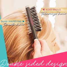 Women Instant Hair Volumizer Styling Comb Sharks Back Combing Brush Accessories Styling Brush, Styling Comb, Hair A, Hair Type, Hair Gel Spray, Best Hair Brush, Silky Smooth Hair, Back Combing, Boar Bristle