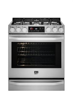 Shop LG Appliances LG cu ft Slide In Gas Range with Self-cleaning Convection Oven (Stainless Steel) at Lowe's Canada. Cleaning Oven Racks, Self Cleaning Ovens, Cooking Supplies, Fun Cooking, Chicken Broth Can, Slide In Range, Food Temperatures, Kitchen Nightmares, Single Oven