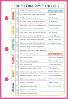 Cleaning schedule for working mom printables time management ideas Diy Cleaning Products, Cleaning Solutions, Cleaning Hacks, Home Management Binder, Time Management, House Cleaning Checklist, Cleaning Schedules, Cleaning Routines, Weekly Cleaning