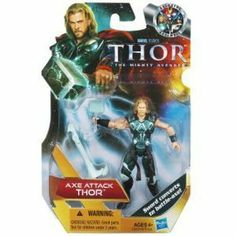 Thor Movie 4 Inch Action Figure Axe Attack Thor by Hasbro. $2.99. Perfect for your collection!; Axe-Attack Thor!  Sword Converts to Battle-Axe!. There are times THOR needs something other than his hammer in battle. His sword, specially forged by the best blacksmith in Asgard, gives him that edge to successfully defend his kingdom.Defeat the forces of evil wherever you and your Axe Attack THOR figure find them. This fierce, mighty hero has proven himself on many fields of ...