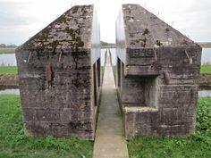 Doorgezaagde bunker bij Culemborg