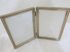 Bi Fold Picture Frames Vintage Metal Hinged Set of 5 x 7 Vintage Photo Frames, Frame Stand, Trash To Treasure, Vintage Metal, Picture Frames, I Shop, Etsy Shop, Mirror, Simple