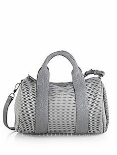 All purpose flyness. Alexander Wang Rocco Perforated Satchel