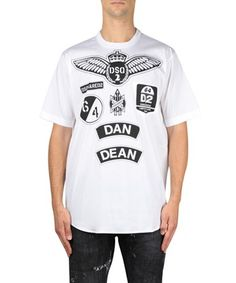 DSQUARED2 Oversize Cotton T-Shirt. #dsquared2 #cloth #t-shirt