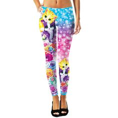 RageOn has teamed up with Lisa Frank to bring you a new line of officially licensed, all-over-print apparel! Dazzle in these adorable Kitten Roses Leggings, available only at RageOn! Lisa Frank Clothing, Leggings Are Not Pants, Leggings Style, Capri Leggings, Cute Outfits, Spandex, Fashion Outfits, Clothes For Women, My Style