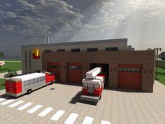 [Minecraft] Fire Station by Yazur.deviantart.com on @deviantART