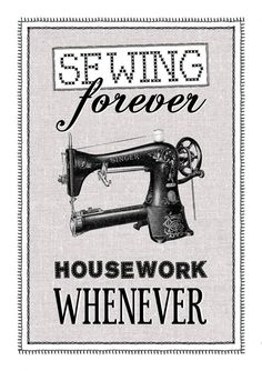 Vintage Sewing Print Sewing Wall Decor Craft by oflifeandlemons