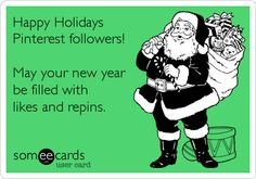 Happy Holidays Pinterest followers! May your new year be filled with likes and repins.