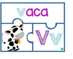 v Preschool Spanish, Spanish Activities, Letter Activities, Teaching Spanish, Literacy Activities, Spanish Alphabet, Spanish Lessons, Kindergarten Math, Speech And Language