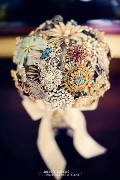 Broach Bouquet will last forever - and can include family heirlooms! So special.