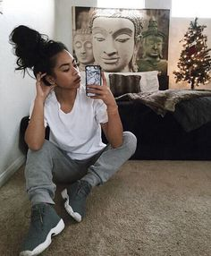 Find out more ideas about Styles clothes, Swag clothes and Ladies design and style. Lazy Day Outfits, Tomboy Outfits, Chill Outfits, Tomboy Fashion, Dope Outfits, Swag Outfits, Fashion Killa, Casual Outfits, Fashion Outfits