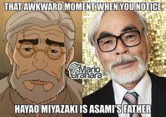 Avatar - Legend of Korra - Asami's father looks just like Hayao Miyazaki Studio Ghibli films creator Team Avatar, Avatar Aang, Avatar The Last Airbender, Republic City, Avatar Series, Zuko, Hayao Miyazaki, Legend Of Korra, Awkward Moments