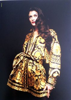 Museum Quality Gianni Versace Silk Baroque Printed Pleated Skirt Fall 1991 image 3