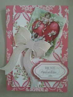 Anna Griffin Vintage Be My Valentine Greeting Card by TextilesRUS, $5.00