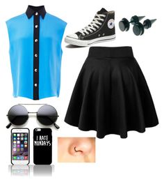 A fashion look from January 2016 featuring sleeveless shirts, circle skirts and high top shoes. Browse and shop related looks. Sleeveless Shirt, Top Shoes, Skater Skirt, High Tops, Converse, Fashion Looks, Skirts, Polyvore, Shopping