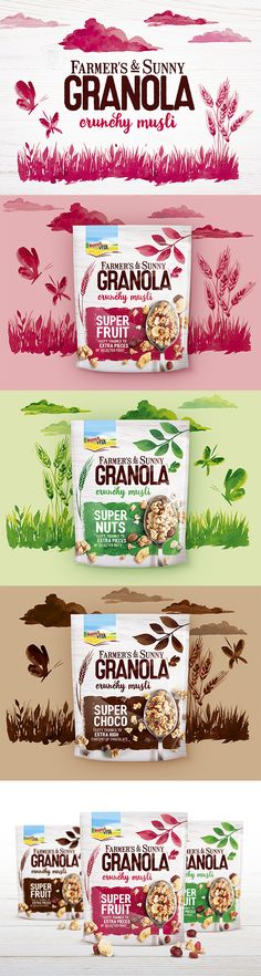 Packaging Design Bona Vita Granola - crunchy musli by Fiala&Šebek #granola #cereals