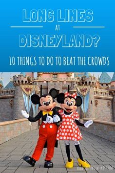 10 Things To Do on a Crowded Day in Disneyland | Don't let long lines and big crowds ruin your Disneyland vacation. Enjoy the happiest place on earth just as much by exploring something other than just the Disneyland rides.