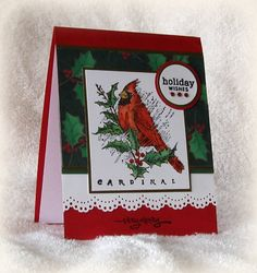 Cardinal Holiday Wishes by swldebbie - Cards and Paper Crafts at Splitcoaststampers