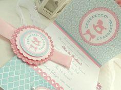 PROMOÇÃO! Convite Tifany e Rosa | Family Atelier - mimos personalizados | 3303B6 - Elo7