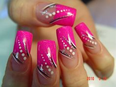 nails by Benson (san antonio) by benson – Nail Art Gallery nailartgallery.na …… - Nail Designs French Nail Designs, Colorful Nail Designs, Cute Nail Designs, Acrylic Nail Designs, Acrylic Nails, Fabulous Nails, Gorgeous Nails, Hot Nails, Pink Nails