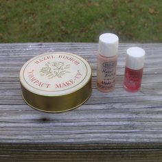 1957 Vintage Hazel Bishop Compact Make-Up, Liquid Make-Up, & Complexion Glow Set in Original Mail Order Box, Compact is Full, Others Dried by VictorianWardrobe on Etsy