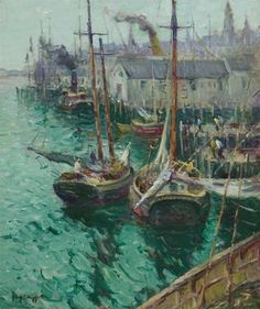 """''Easterly Winds'', Guy Carleton Wiggins, oil on canvas, 30 x 25"""", private collection."""