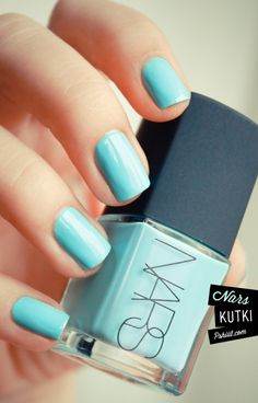 Kutki by Thakoon. For Nars. It doesn't get much better than that. I NEEEEED this. It is such a beautiful shade of pale blue!