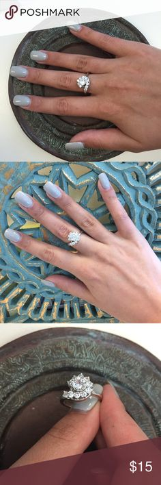 Crystal Glam Ring Glamorous and eye catching - this piece really pops! NWOT Farah Jewelry Jewelry Rings