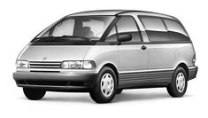 Photo about Toyota Previa Automatic. Leave comments and share it with friends. Toyota Previa, Electric Cars, Campervan, Gallery, Vehicles, Roof Rack, Car, Vehicle, Tools