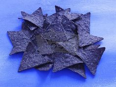 blue corn chips = purple prickles all over his back