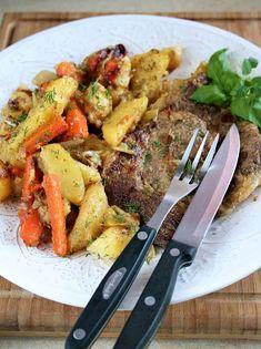 sio-smutki! Monika od kuchni: Jednogarnkowe: kotlety z karkówki duszone z warzyw...