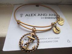 ALEX and ANI ROPE ANCHOR Russian GOLD Bangle BRACELET S #AlexandAni #Bangle