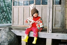 color combination for fall / winter style inspiration from kids fashion: photographs by kotori kawashima