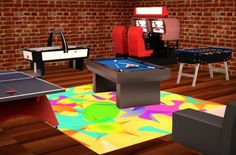 game room ideas for small rooms | ... of using your game room ideas to pick a game variant theme wall color