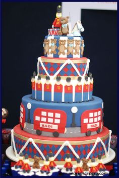 London inspired cake Toy soldier cake