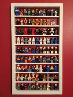 Lego Minifigure Display Case - White (Displays 99 Minifigures!)
