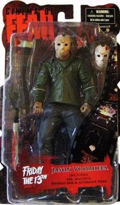 Mezco Toyz Cinema of Fear Series 4 Action Figure Jason Voorhees (Friday the 13th Part 3) by Cinema of Fear -- Awesome products selected by Anna Churchill